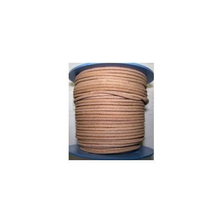 Rollo 25 mts. Cordón Cuero Nacional 3,5 mm. NATURAL. Ref 20858