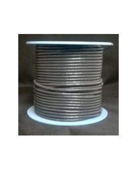 Rollo 25 mts. Cordón Cuero Nacional 1,5 mm. GRIS OSCURO. Ref 20887