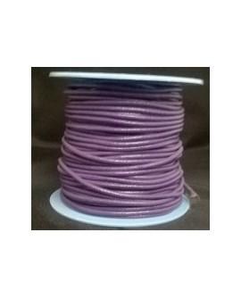 Rollo 25 mts. Cordón Cuero Nacional 1,5 mm. MORADO. Ref 20889