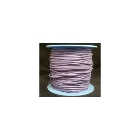 Rollo 25 mts. Cordón Cuero Nacional 1,5 mm. LILA. Ref 20890
