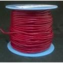 Rollo 25 mts. Cordón Cuero Nacional 1,5 mm. BURDEOS. Ref 20902