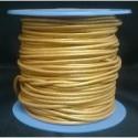 Rollo 25 mts. Cordón Cuero Nacional 1,5 mm. ESPECIAL DORADO. Ref 20907