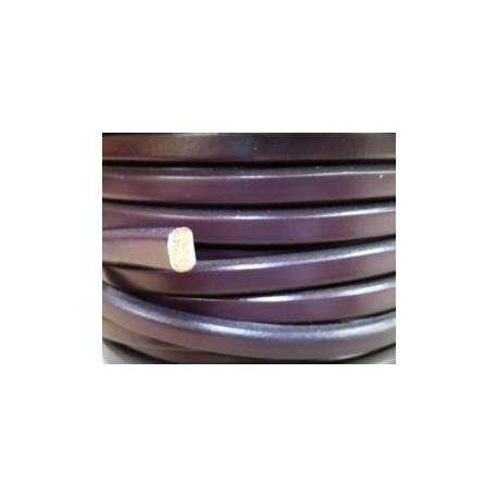 Cordón Cuero Ovalado 10 x  6 mm. MORADO. Por metro. Ref 21051