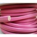 Cordón Cuero Ovalado 10 x  6 mm. ROSA. Por metro. Ref 21052