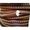 Cordón Cuero Ovalado 10 mm. COÑAC. Por metro. Ref 21053