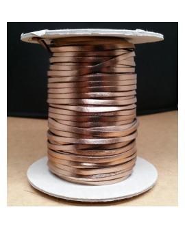 Tireta Plana Piel Metalizada 3,5 mm. RAME. Ref 21147