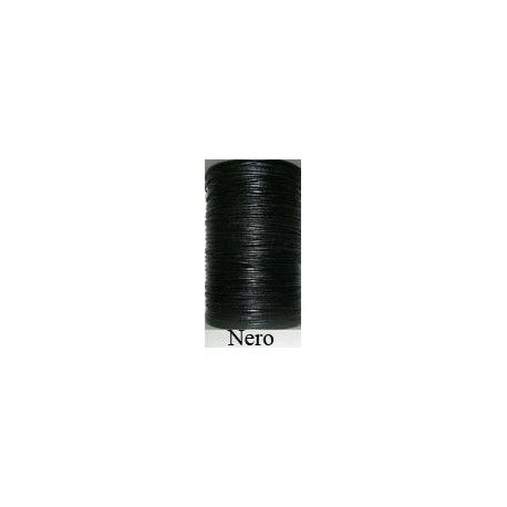 Cordón Cuero Piel Canguro 1 mm. NEGRO. Por metro. Ref 21214