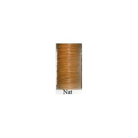 Cordón Cuero Piel Canguro 1 mm. NATURAL. Por metro. Ref 21215