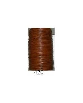Cordón Cuero Piel Canguro 1 mm. 420. Por metro. Ref 21221