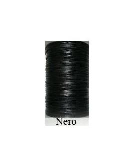 Cordón Cuero Piel Canguro 1,6 mm. NEGRO. Por metro. Ref 21229
