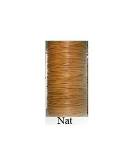 Cordón Cuero Piel Canguro 1,6 mm. NATURAL. Por metro. Ref 21230