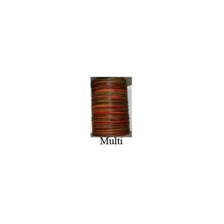 Cordón Cuero Piel Canguro 1,6 mm. MULTICOLOR. Por metro. Ref 21243