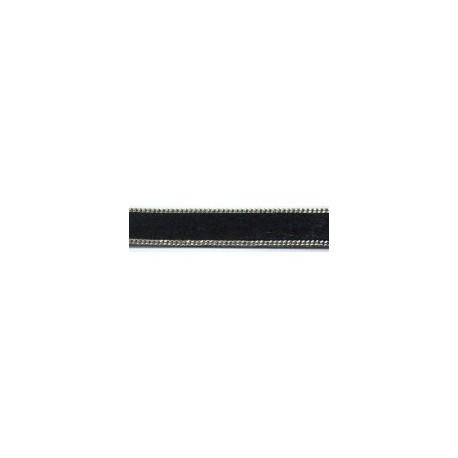 Tira Pelo + Ribete 14 mm. NEGRO. Ref 21247