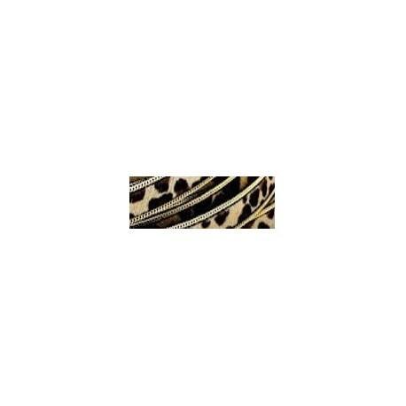 Tira Pelo + Ribete 14 mm. LEOPARDO comb 1. Ref 21248