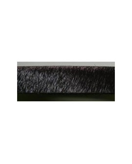 Tireta Plana de Pelo 10 mm. MARRÓN OSCURO (MOKKA). Ref 21471