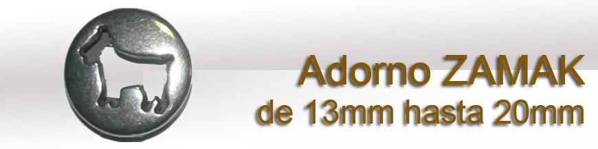 Adorno ZAMAK desde 13mm hasta 20mm
