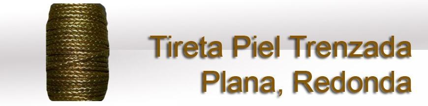 Tireta Piel Trenzada Plana y Redonda