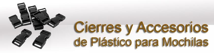 Cierres y Accesorios de Plástico para mochilas etc.